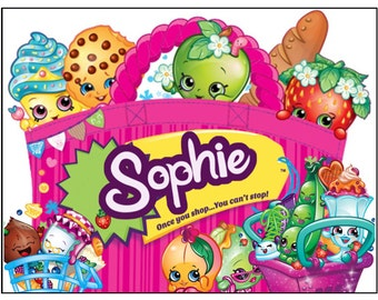 Shopkins Personalised Cake Topper A4 Icing sheet