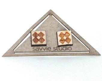 aztec | post earrings