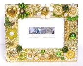 jewelled frame, embellished Picture Frame, golden decor, Frame with Jewelry, Luxury gifts, Mosaic Photo Frame, Crafts With Buttons