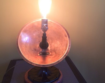 Antique copper heater steampunk lamp