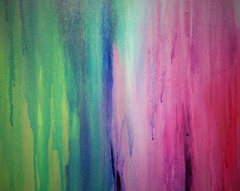 """Abstract acrylic painting """"Blur"""""""