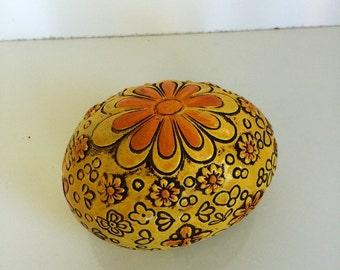 Vintage Chalkware Egg Figurine Easter