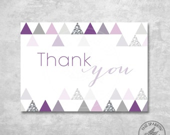 Modern Bridal/Baby Shower Thank You Card (Flat and/or Fold)