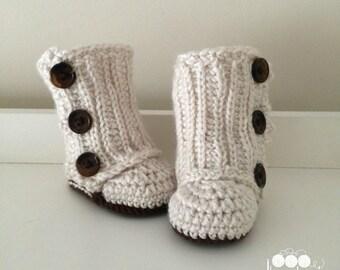 Crochet Wrap Infant Slippers