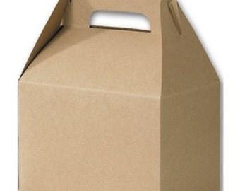 "Kraft gable boxes 8x4x5"" - Kraft - favor box - party favor boxes #85000"
