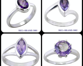 Amethyst Ring, Silver Amethyst Ring, 925 amethyst Ring, Midi Ring, Amethyst Stone Ring, Gemstone Ring, Silver Size US 2 ,3,4,5,6, 7, 8, 9,10