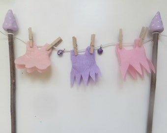 Faerie washing line, clothes line, laundry