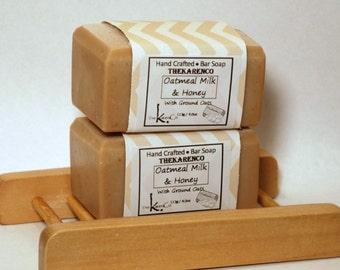 Oatmeal Milk Honey, Cold Process Soap, Vegan Soap, Oatmeal Soap