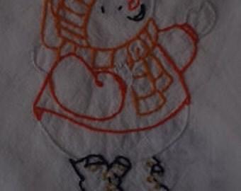 Snowmen pattern Sunday Free Shipping