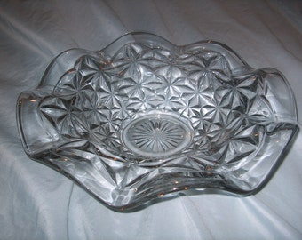 antique Vintage Glass Bowl, WAS 50.00 - 50% = 25.00