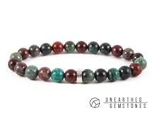 Sonora Sunrise Bracelet - Chrysocolla Cuprite Bracelet, Sonora Sunset Jewelry, Colorful Bracelet, Beaded Mens Bracelet