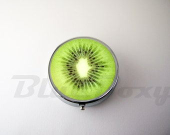 Kiwi Fruit Pill Case, Pill Box, Pill Holder, Accesory Box