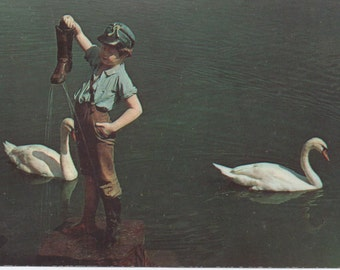 Unused Postcard, Boy With a Leaking Boot, Hershey, Pennsylvania, c1970s, good shape