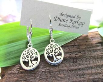 "Sterling Silver ""Tree of Life""  Earrings"