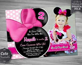 MINNIE BOWTIQUE INVITATION, Minnie Bowtique, Invitation, Minnie Invitation, Minnie Birthday, Minnie Mouse Invitation