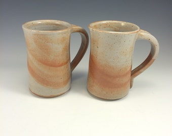Pottery Coffee Mug Shino Glaze Stoneware Tea Mug