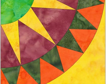 Starshine Beauty Paper Piece Foundation Quilting Block Pattern PDF