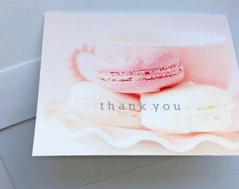 Macaron Thank You cards