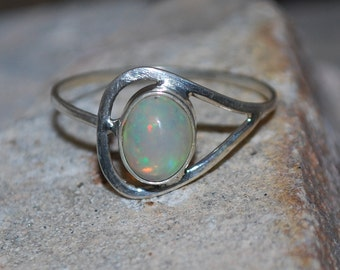 Ethiopian Opal Ring , Natural Opal Ring , 925 Sterling Silver Opal Ring , October Birthstone Ring ,Silver Welo Opal Ring N34