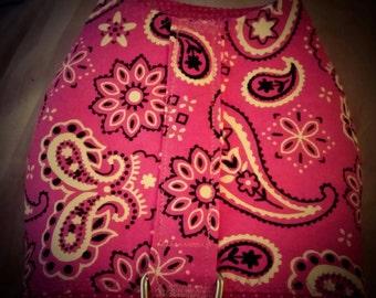 Pink bandana style dog harness