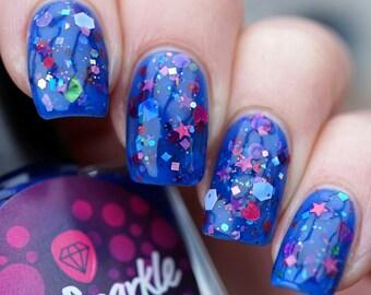 SCINTILLA~Pretty Purist Collection Blue Glitter Jelly Indie Nail Polish 10ML