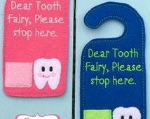 Tooth fairy door hanger tooth fairy letter kids play kids decor dentist tooth dental gift kids gift unique gift treasure box door hang