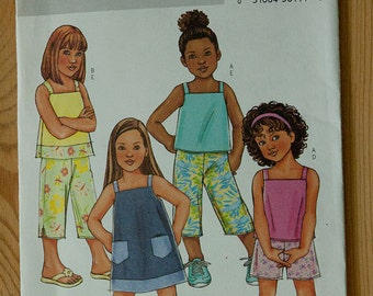 Sewing Pattern for Girls' Outfits-- Dresses, Tops, Bottoms-- Buttericl 4175