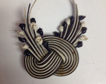 Vintage Blue and White Brooch