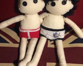 Sherlock and John Dolls