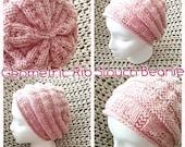 Geometric Rib Knit Slouch Beanie