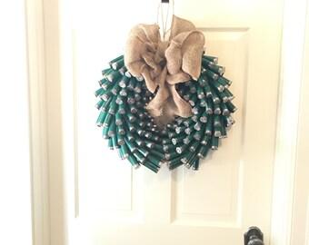 Hunter Green Fall shotgun shell wreath