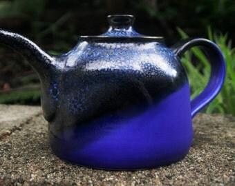 Blue Teapot, handmade ceramic
