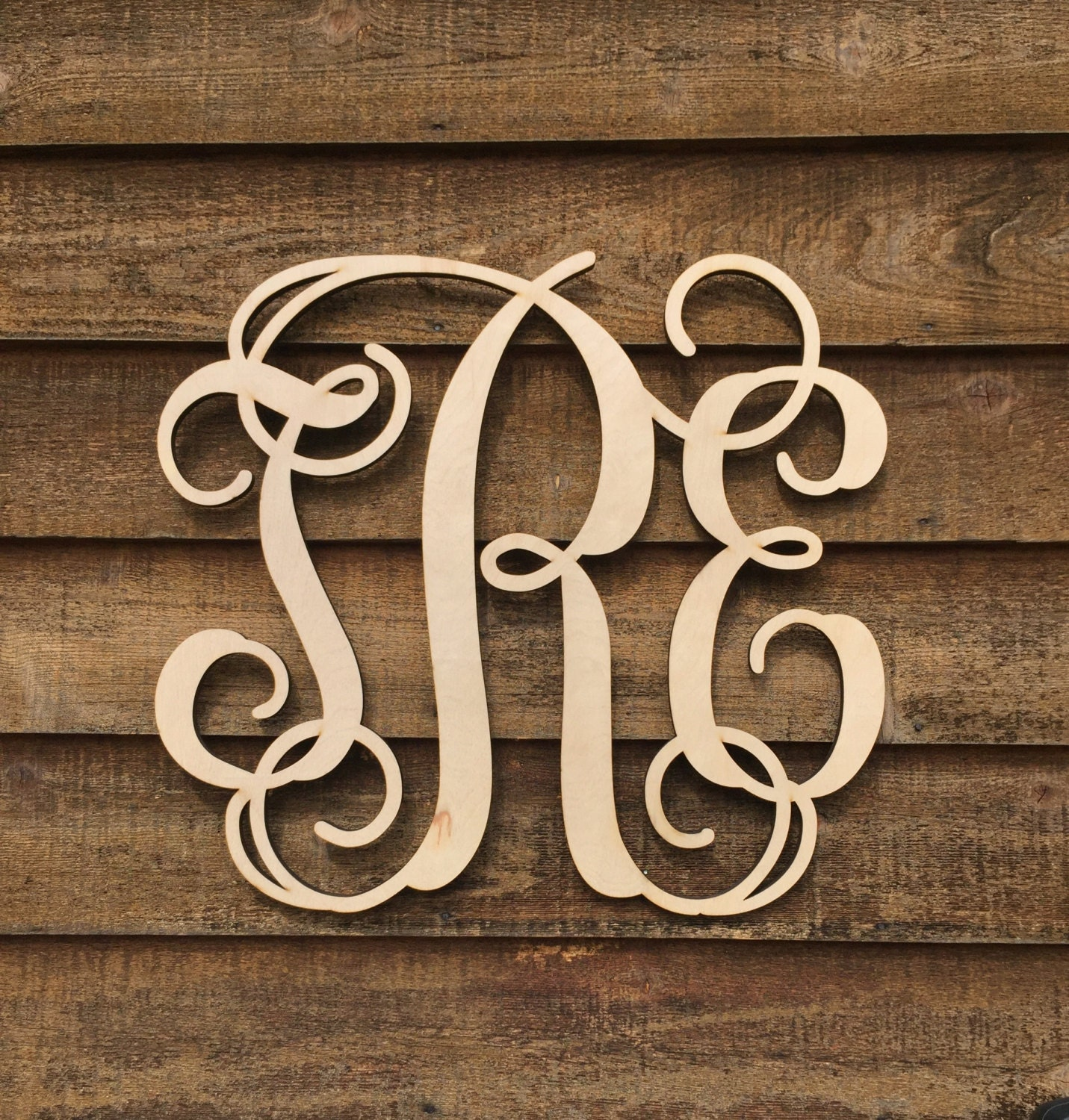 monogram wooden letters large 24 inch unpainted wooden monogram wood letters 23687