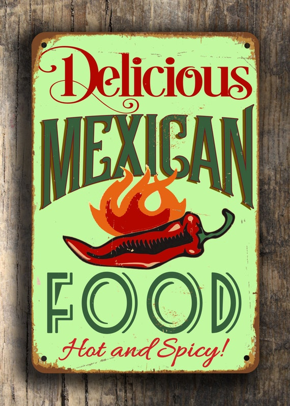 Mexican food sign signs vintage by