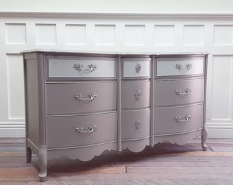 Grey/Silver French Provincial dresser