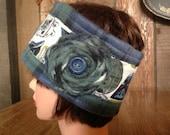 Ear Warmer Headband Flannel Fleece Blue Green Plaid Angry Bird Star War Inspired