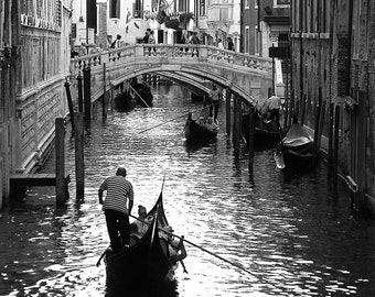 Black and White Venice - Digital Photography, Italy Photography, Venice Photography, Venice Art, Venice Decor, Black and White Photography