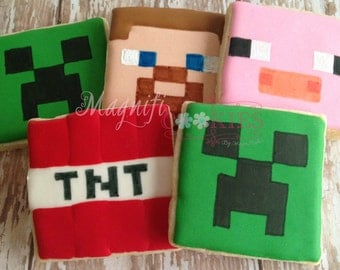 Minecraft Decorated Cookies