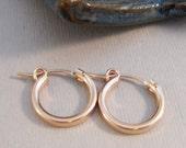 Tiny Rose Gold Hoops,Hoop,Earring,Earrings,Rose Gold Earrings,Rose Gold,Gold Filled,Rose Gold Hoops,small earring, Earrings.SeaMaidenJewelry