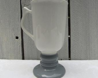 Hall Irish coffee mug, Hall 1273, Hall grey ceramic replacement coffee mug, Hall grey pedestal mug, vintage Hall coffee mug, 2roads2take