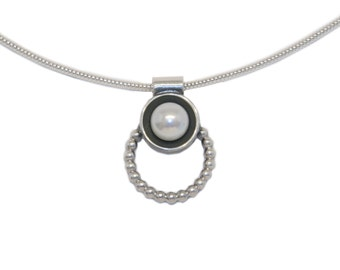 Necklace 'KEPHISO' SM Realsilver BDSM Collar Choker Ring of O. Master Slave Top Bottom 60007