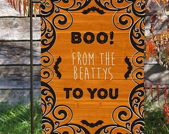 Halloween Garden Flag, Personalized Halloween Garden Flag