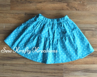 Blue with Dots Skirt