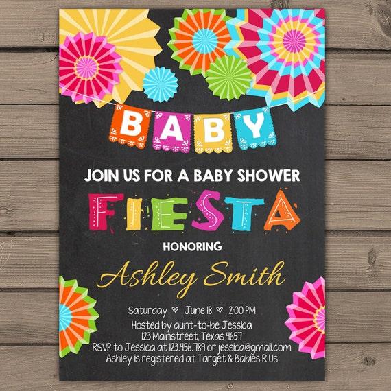 baby shower invitation fiesta baby shower chalkboard fiesta shower