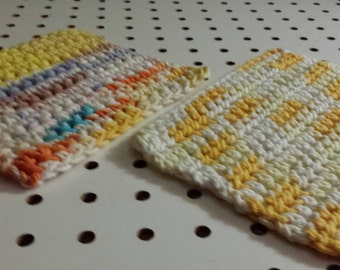 2 Dish Rags Crocheted