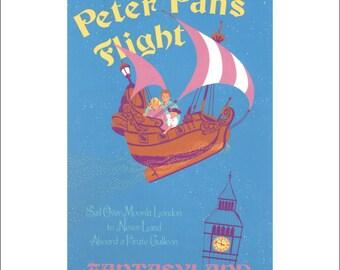 "Vintage Disney Parks Poster, Item 110M, 11"" x 14"" Matte, Mat, Disneyland, 1983, Peter Pans Flight"