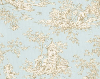 Baby Toile Horizon Fabric - By The Yard - Girl / Boy / Gender Neutral