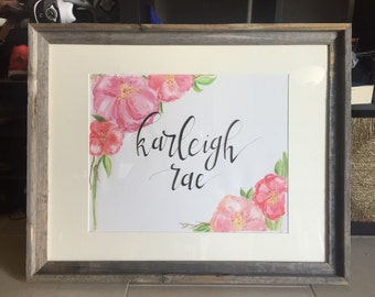 Calligraphy watercolor 16x20