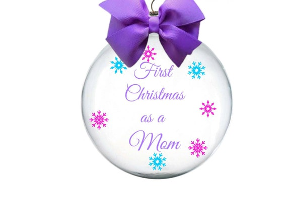 Items similar to First Christmas as a Mom, Personalized ...