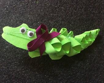 Custom Alligator Hair clip
